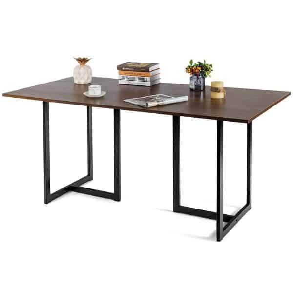 Houten tafelblad op maat, met staal of inox onderstel