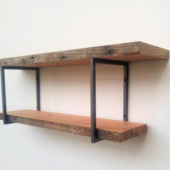 Boekenplank op maat in staal